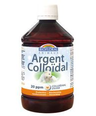 Argent colloïdal Animaux 20 ppm naturel Flacon 500 ml-BIOFLORAL