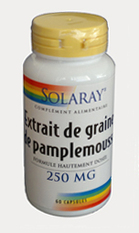 Extrait de Graines de Pamplemousse - 250 mg  -  SOLARAY