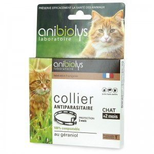 Collier antiparasitaire chat - 35cm - ANIBIOLYS